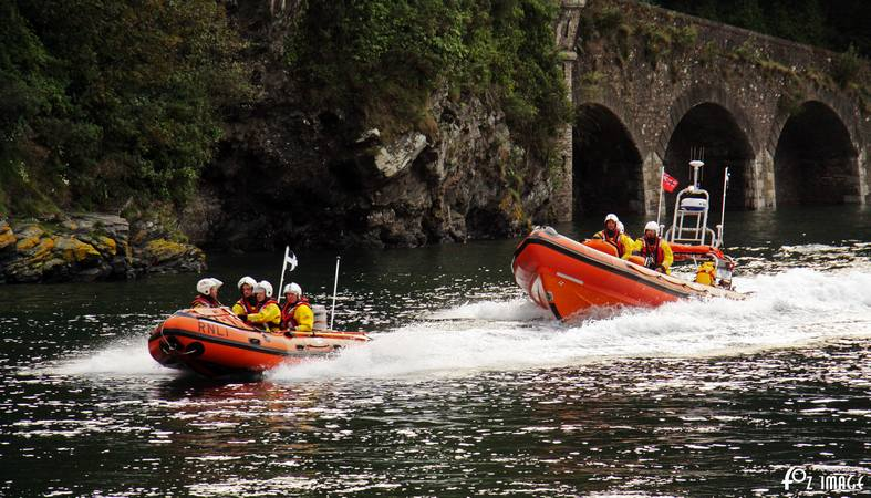 Looe RNLI launching both ILB's